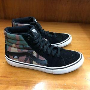 Vans SK-8 Hi men's skateboard shoes camo 9.5